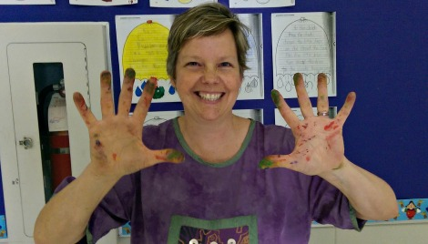 Linda printmaking teach