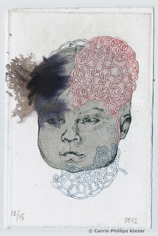 A beautiful etching by Carrie Phillips Kieser