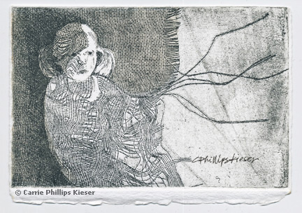 A beautiful etching by Carrie Phillips Kieser.