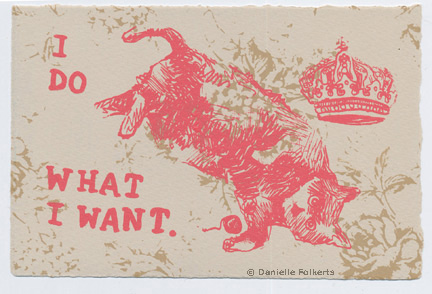 A postcard from the exchange by Danielle Folkerts (www.facebook.com/DFolkertsArtStudio).