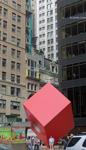 Linda Cote-red cube