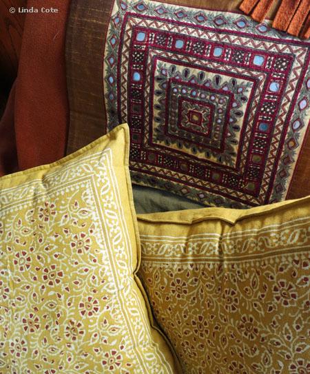 Linda Cote-Three Maiwa Pillows