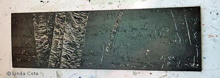 LINDA COTE-Black plate inked