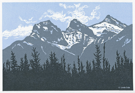 23-LINDA COTE-Three Sisters Spring, Canmore