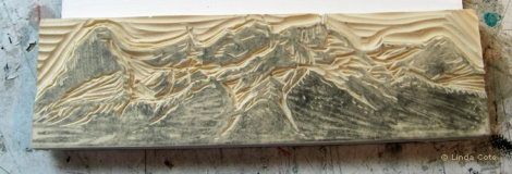 LINDA COTE-Ehagay Nakoda Block Carved