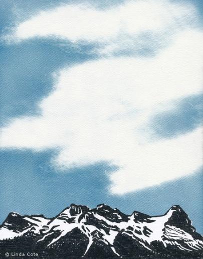 LINDA COTE-Mountains and Sky