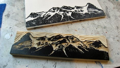 LINDA COTE-Mountain Test Print