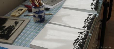LINDA COTE-Printing on wood