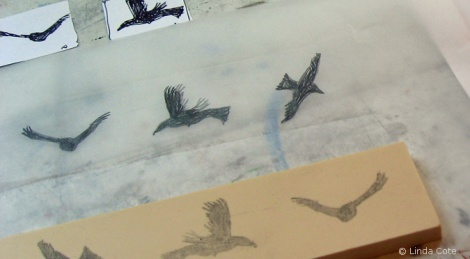 LINDA COTE-Drawing Birds