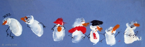 LINDA COTE-snowmen feature