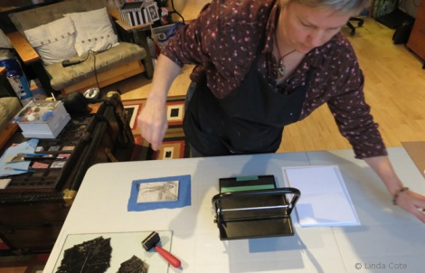LINDA COTE-Printmaking Rockies Girl