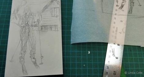 LINDA COTE-Sketch of Rockies Girl