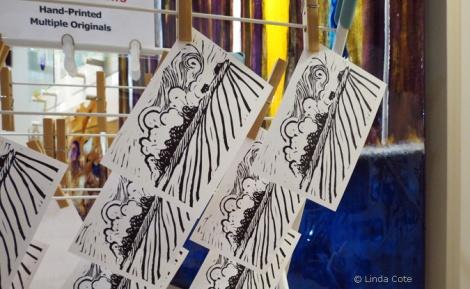 LINDA COTE-Hanging postcards