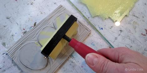 LINDA COTE-inking egg block