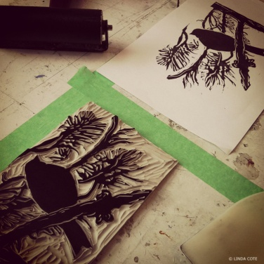 LINDA COTE-postcard bird