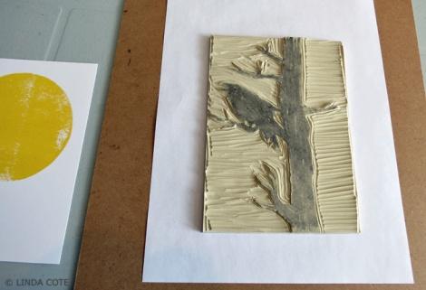 LINDA COTE-Carve raven block