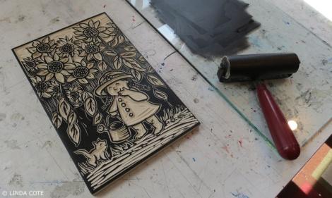 LINDA COTE-Garden Ink Block