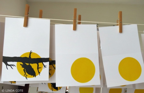 LINDA COTE-Hanging Raven Cards