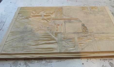 LINDA COTE-carved block