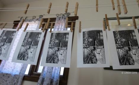 LINDA COTE-prints hanging