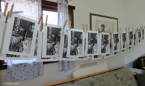 LINDA COTE-prints hanging2