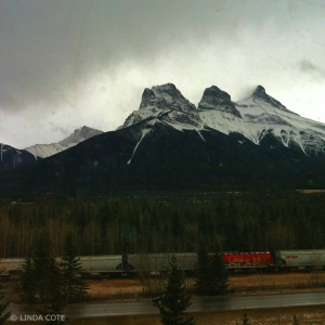 LINDA COTE-Todays Train Canmore