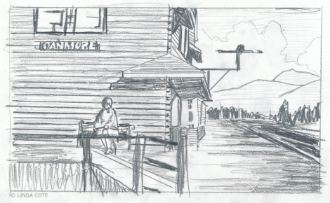 LINDA COTE-Train Sketch