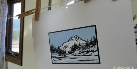 LINDA COTE-2-color print