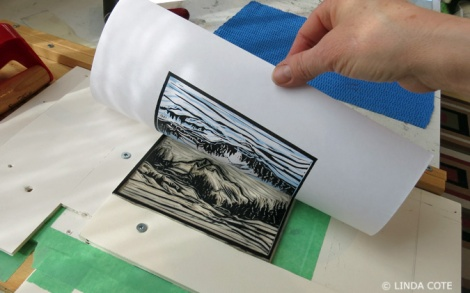 LINDA COTE-Black ink printed