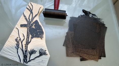 LINDA COTE-Blackbird inked