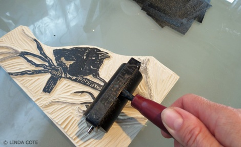 LINDA COTE-Blackbird inking