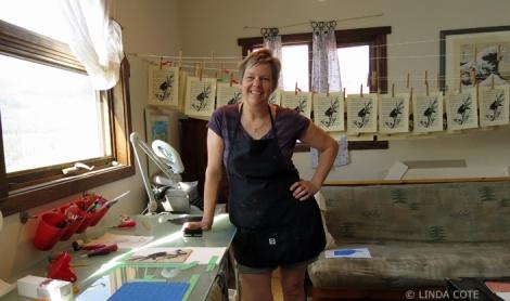 LINDA COTE-Blackbird printing