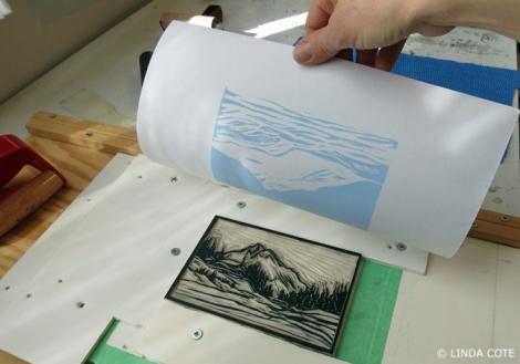 LINDA COTE-Blue black ink