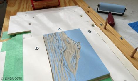 LINDA COTE-Blue block ink