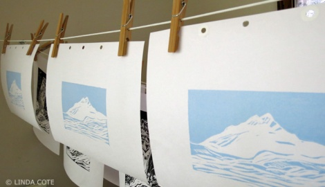 LINDA COTE-Blue drying