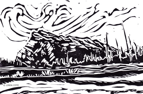 LINDA COTE-Mount Rundle postcard