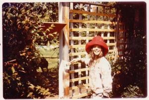 LINDA COTE-young in garden