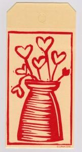 LINDA COTE-Hearts Bouquet bookmark