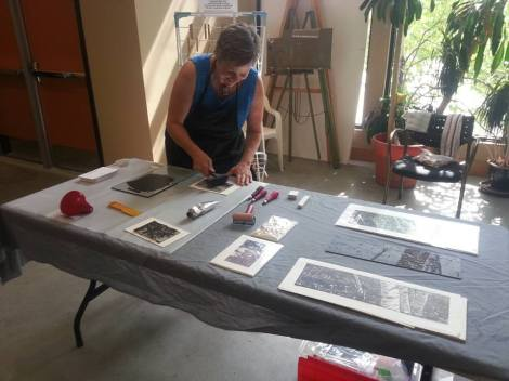 LINDA COTE-Printmaking Demo at Museum