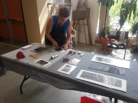 LINDA COTE-Printmaking Demo at Museum