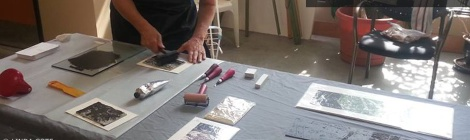 LINDA COTE-Printmaking Demo feature