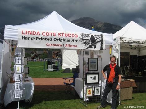 LINDA COTE-Tent and Sky