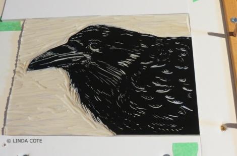 LINDA COTE-Black Block inked