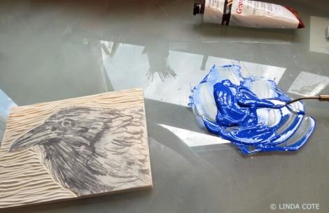 LINDA COTE-Mixing Ink