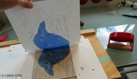 LINDA COTE-Pull Blue Print