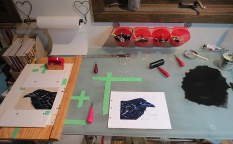 LINDA COTE-work table
