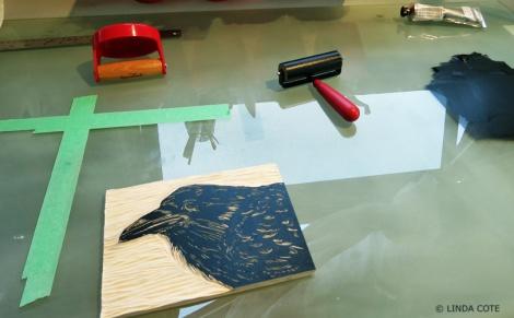 LINDA COTE-Young Raven printing