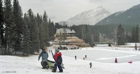 LINDA COTE-Banff Springs Winter