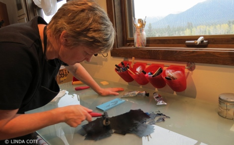 LINDA COTE-Heron's Story inking