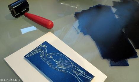 LINDA COTE-Heron's Story inking2
